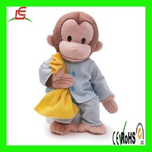 New style plush Pajamas Stuffed Animal monkey toy