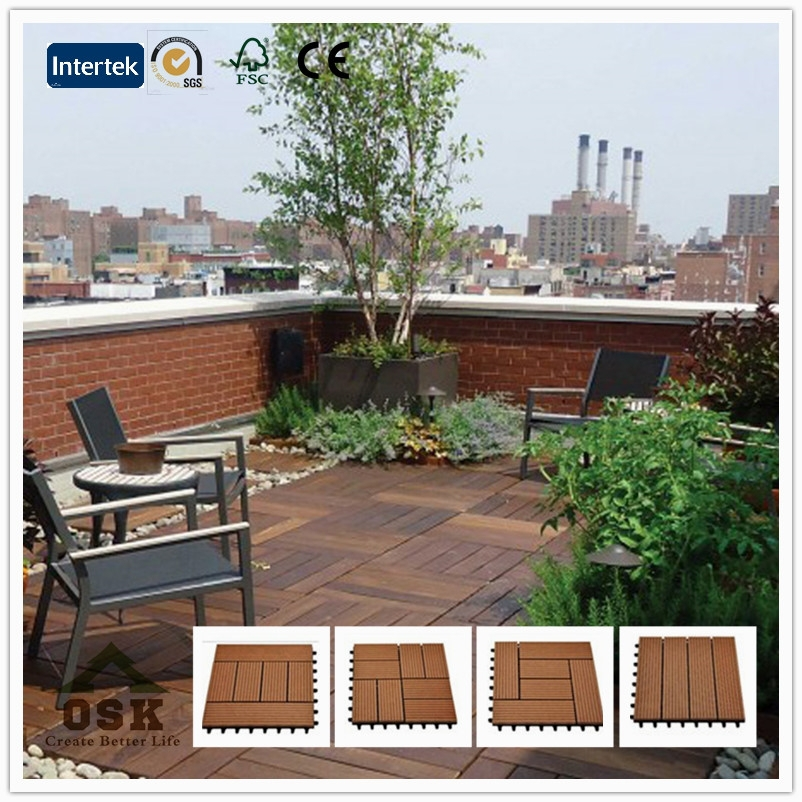 300*300mm diy wpc tiles /wood plastic composite diy tiles flooring DIY board