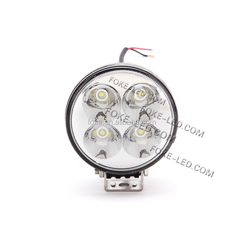 3 inch 12W LED Work Light round flood Beam Car Offroad Light