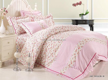 pink small floral print full size 4pcs set 100% cotton printing luxury bedding