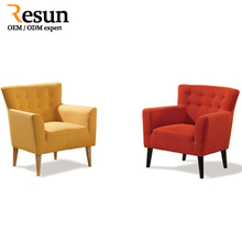 Resun Latest designs lounge fabric leisure single sofa chair with low price
