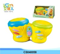 Good quality plastic music toy with light baby drum toy