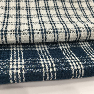 Polyester Linen Like Plaid Fabric for Ladies Dress and Garments