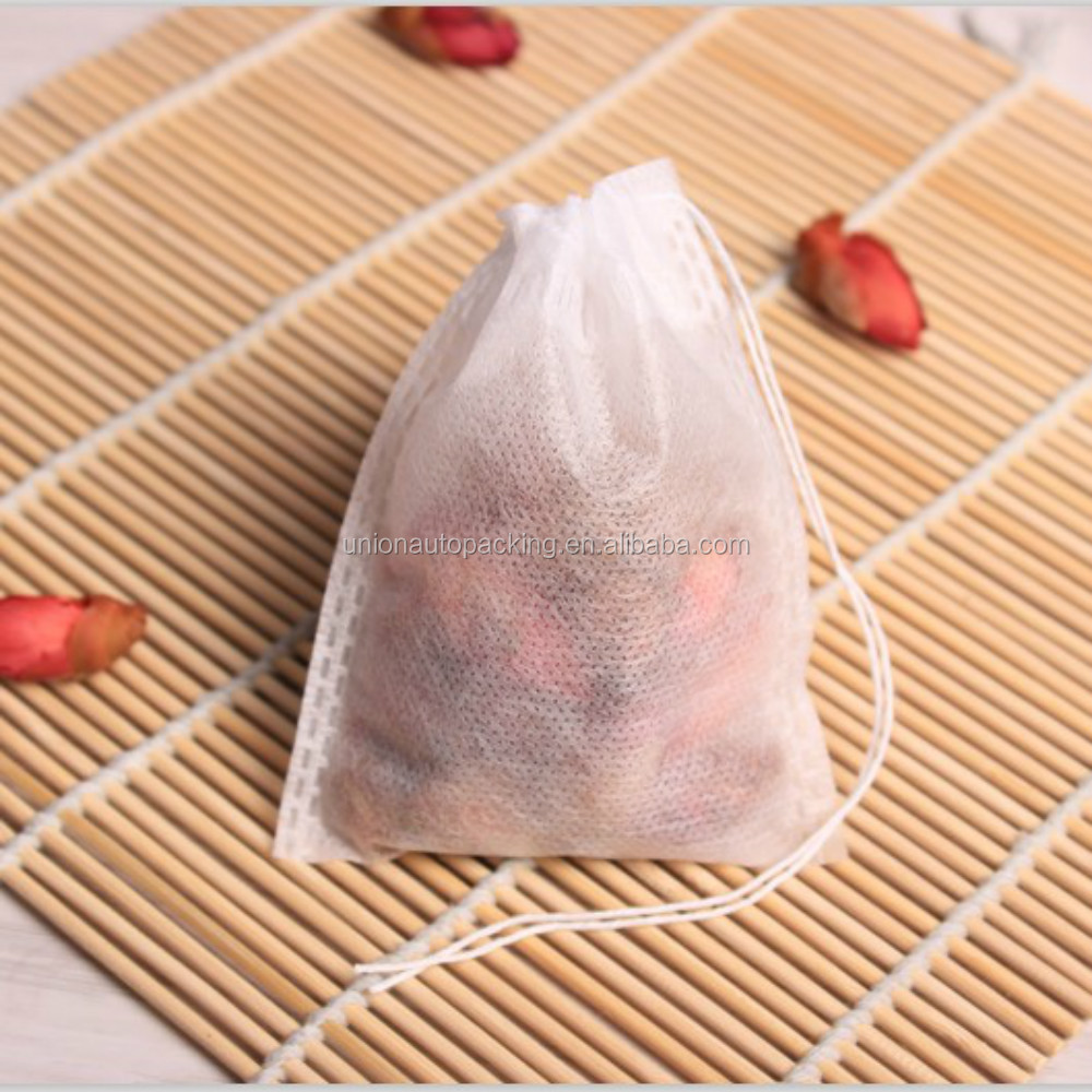 High Quality Biodegradable Drawstring Nonwoven Tea Packing Bag