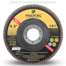 "PEGATEC 4.5"" 115X22MM VSM Zirconia Flap Disc for stainless steel and steel With MPA Certification"