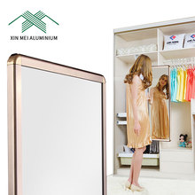 Cheap Safety Aluminum Stained Champagne Framed Wardrobe Dressed Cheval Mirror