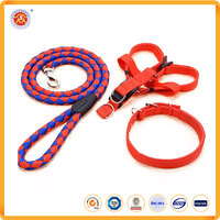 High class pet product dog multiple color adjustable nylon/polyester woven pet leashes