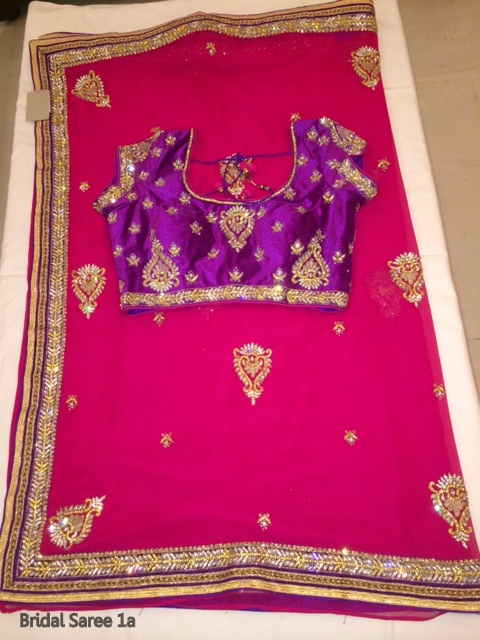 Fancy Wedding Bridal Designer Saree and Blouse