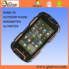 BEST PRICE 4.0INCH MTK6589 WALKIE TALKIE BAROMETRIC ALTIMETER RUGGED CELL PHONE NOMU V9 RUGGED MOBILE WITH HIGH CAPACITY BATTERY