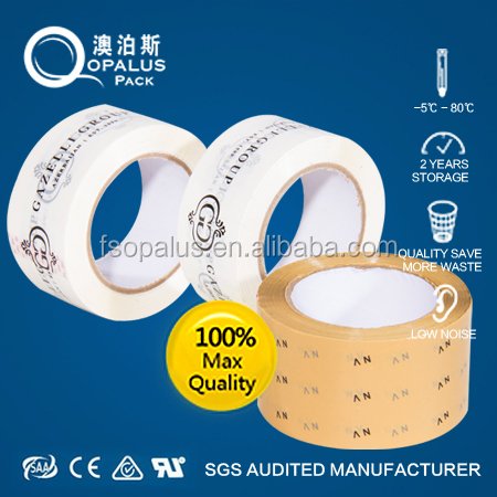 Korea market plastic adhesive packing tape with logo