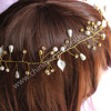 Hair Ornaments transparent acrylic bicone bead stem Floral Crown hair band wreath