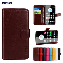 Luxury Flip PU Leather Wallet Mobile phone Cover Case For ZTE Blade V8 Lite with Card Holder