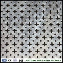 cross hole perforated punched metal mesh/punched hole mesh