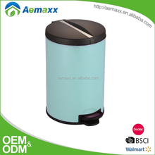 Different colors available stainless steel waste bin pedal operated for kitchen bathroom living room