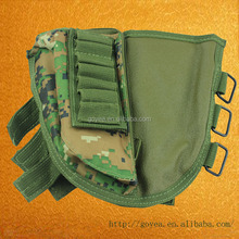 Tactical Buttstock Shotgun Rifle Stock Ammo Portable Pouch Shell Cartridge Holder Pouch Hunting Holder