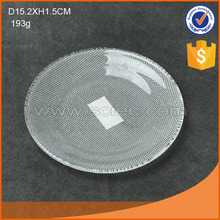 frosted round glass flat plate in 3 sizes fancy tableware