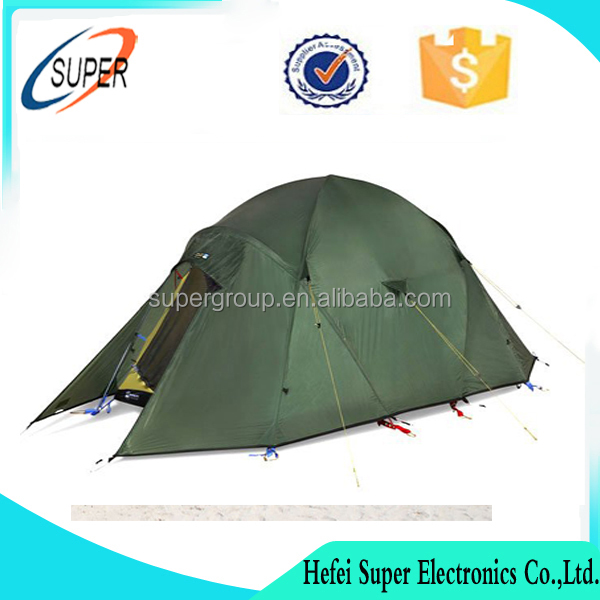 Portable 2 Person 4 Season Mountaineering Waterproof Windproof Tent