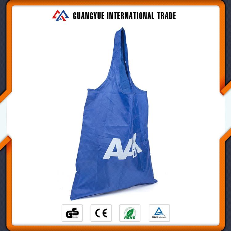 Guangyue China Wholesale Websites Hot Sale Blue Colour Eco Friendly Wholesale Polyester Foldable Shopping Bag