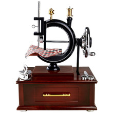 Music Boxes Vintage Look Sewing Machine Home Decoration Gift