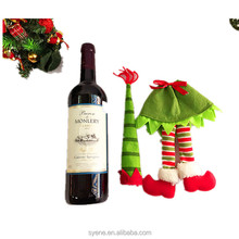 2015 novelty decorative Christmas new arrival holiday decorative red white christmas santa claus suit wine sweater bottle cover