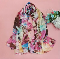 100% silk material and long style of length best-selling scarf shawl