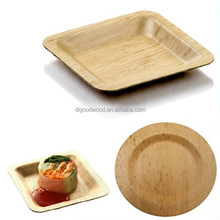 disposable natural bamboo leaf plate