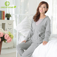 breathable cotton material smooth black sexy women in pajamas AK205