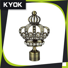 Acrylic flower curtain rod finials