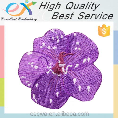 Trade Assurance custom flower patch embroidery design