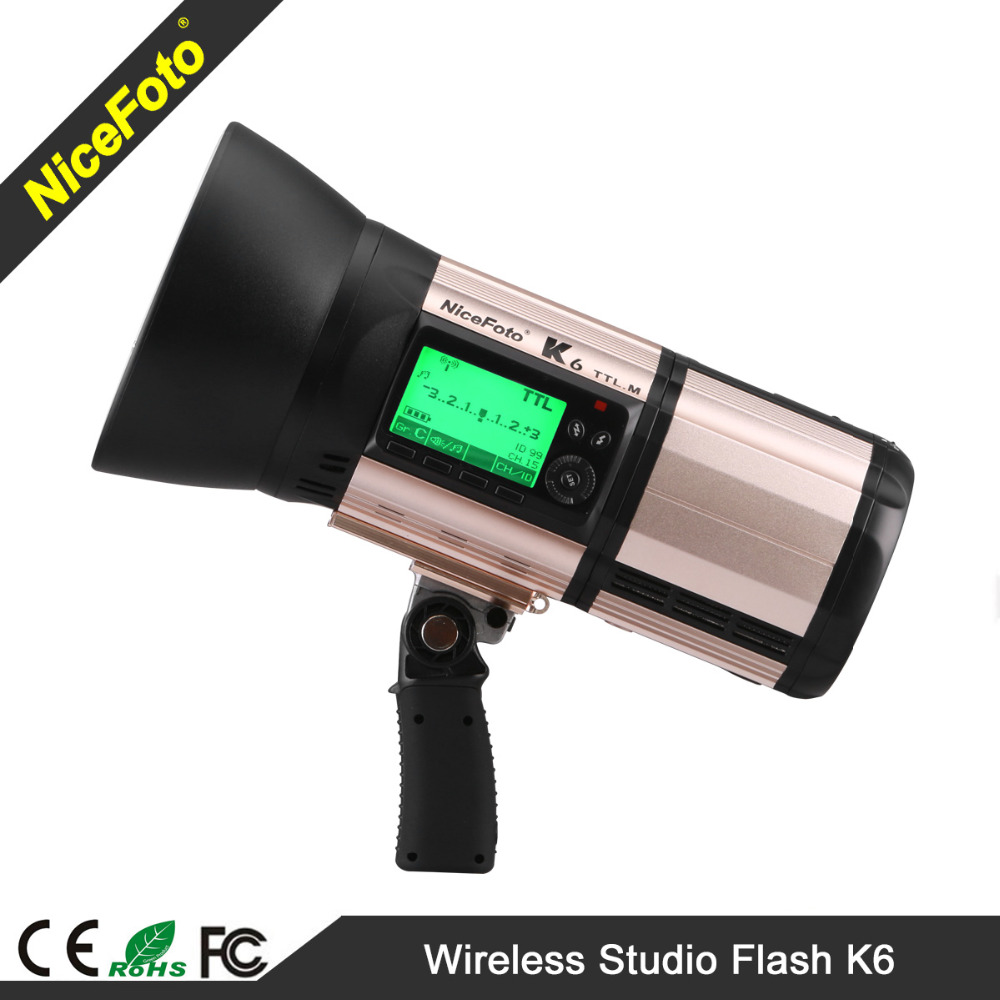 NiceFoto Battery powered flash K6 600Ws With TTL flash for Nikon and Canon