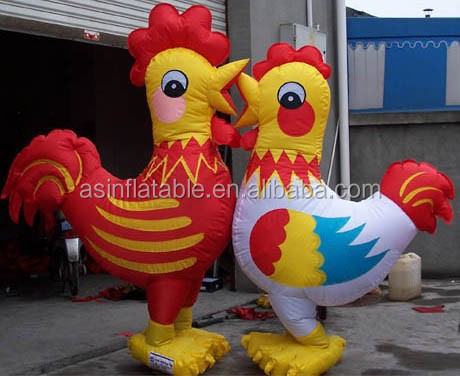 oxford cloth life size custom realistic inflatable animal model inflatable chicken