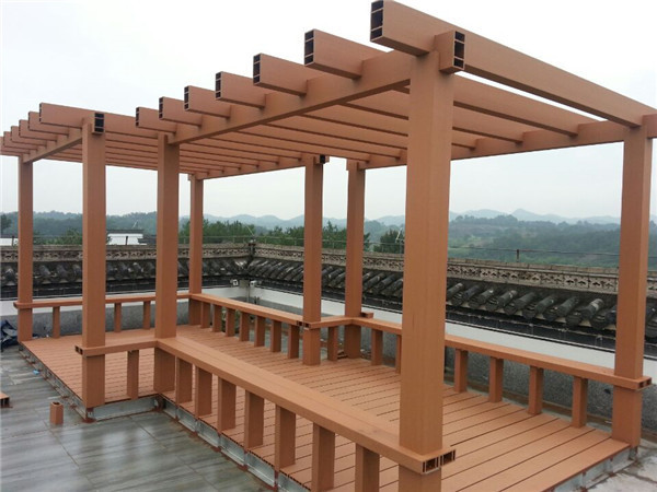 wpc material made pergola for decoration in garden or home balcony