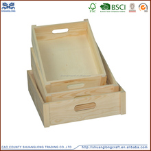 high quality cheap modern design natural restaurant wood tray