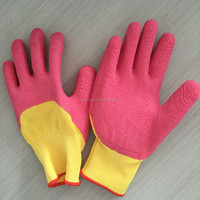13g polyester liner foam latex garden gloves working glove
