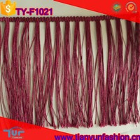 simple and classical colorful customized fringe trimmings for hometextiles