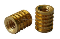 CNC machined brass molded-In blind threaded inserts for plastic, brass inserts screw