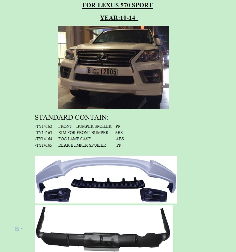 FOR LEXUS LX 570 SPORT BODY KIT