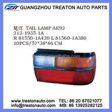 TAIL LAMP 81550-1A420 81560-1A380 FOR TOYOTA COROLLA EE90 AE92