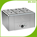 BN-K02 Stainless steel high quality hotel used electric bain marie food warmer