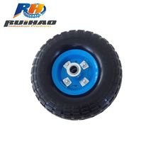 Solid PU Foam Trolley Tyre Wheel 4.10/3.50-4