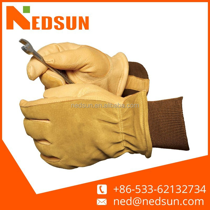High quality working leather farming gloves