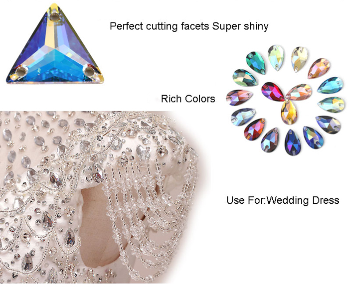 Fancy Shape Sewing Rhinestones in Bulk Wholesale Flatback Sew on Glass Crystal Rhinestone for Dance Dressing