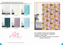 Plastic Eco friendly Feather PEVA custom shower curtain