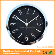China manufacturer new idea plastic 3D special design promotional wall clock