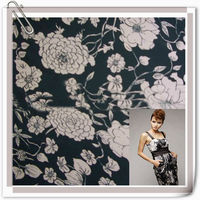 Polyester satin fabric printed for dress/lining