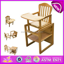 Baby dining high chair for safey baby,wooden toy baby high chair,comfortable baby wooden dining chair wj278315