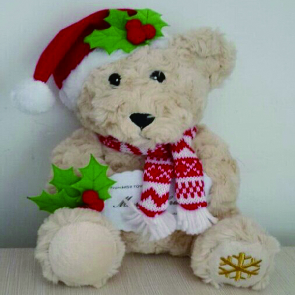 Wholesale soft toy plush stuffed Christmas teddy bear toy for decoration
