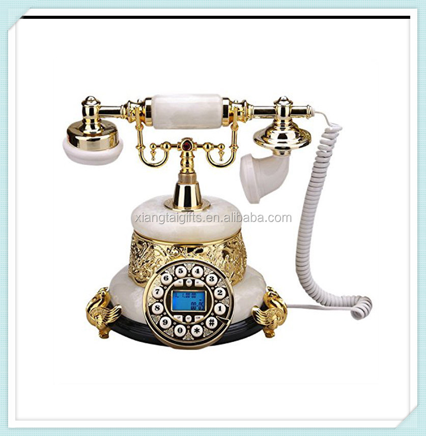 European home crafts resin antique decorative telephone