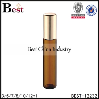 5ml amber perfume roller ball bottle with screw cap