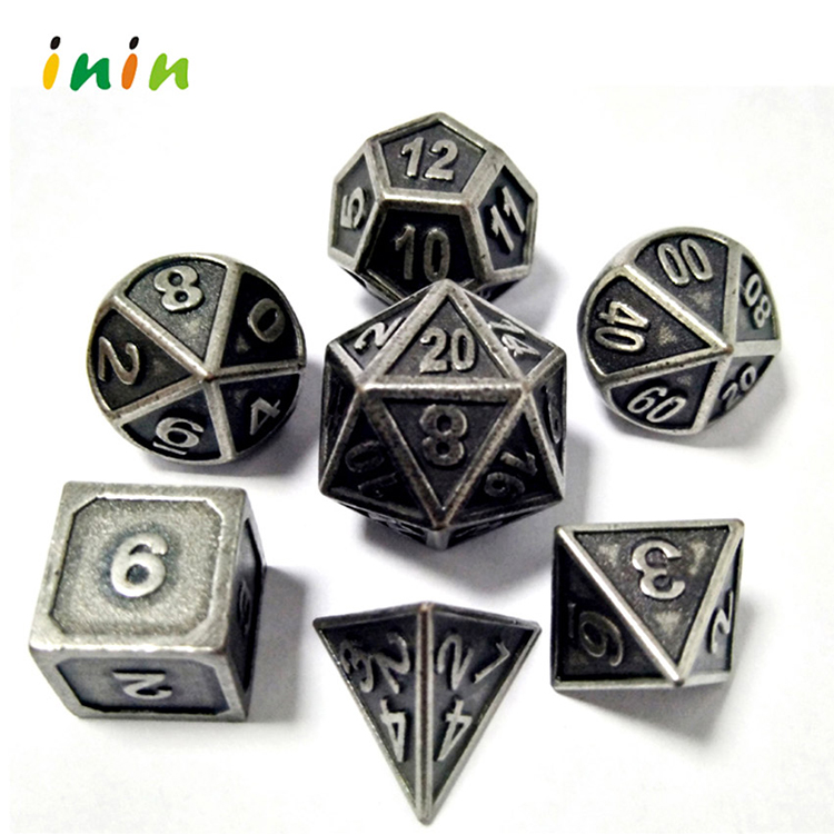 Wholesale Custom Package D4 ,D6,D8,D10,<strong>D12</strong>,D20, Sided Pearl/matt Copper Polyhedral Bulk Dice